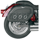 Drifter S4 Rigid-Mount Quick-Disconnect Saddlebags w/Integrated LED Marker Lights - 3501-0232-LEB