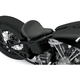 Black Solar-Reflective Leather Large Smooth Spring Solo Seat w/Carpeted Bottom - 0806-0052