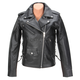 Womens Black 9mm Leather Jacket