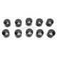 Black 1/4 in. Hex Bolt/Nut Covers - 2402-0152