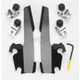 Black Trigger-Lock Mount Kit for Batwing Fairing, Fats/Slims with Shield - MEB8967