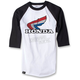 White/Black Honda Vintage Baseball T-Shirt