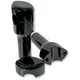 Gloss Black 4 1/4 in. Smooth Risers for 1 in. Handlebars - LA-7402-04B