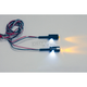 Black LED License Plate Bolts w/White/Amber LEDs - TB04B