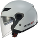 Pearl White OF569 Track Helmet with Sunshield
