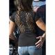 Womens Black Peekaboo T-Shirt