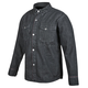 Black Gridlock Denim Moto Shirt