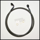 Black Pearl E-Z Align 46 in. Alternative Length Single Disc Non-ABS Front Brake Line - 46846SW