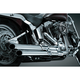 Crusher Staggered Dual Exhaust w/Chrome/Black Powercell - 559