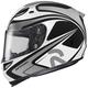 Zappy RPHA-10 White/Black/Silver Helmet