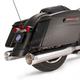 Chrome Performance Mufflers w/Chrome Thruster End Cap - 550-0620