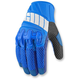 Blue Overlord Mesh Gloves