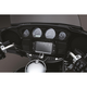 Black/Chrome Tuxedo Ignition Switch Cover - 7347