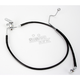 Rear Extended Length Black Vinyl Braided Stainless Steel Brake Line Kit +2 in. - 1741-2955