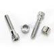 Chrome Handlebar Clamp Spacers and Screw Set - 0603-0555