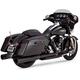 Black Oversized 450 Titan Slip-On Mufflers - 46549