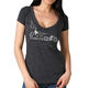 Women's Heather Charcoal Passion Wings V-Neck T-Shirt