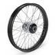 21 in. x 2.15 in. Front Lace Black Powder-Coated 40-Spoke Wheel Assembly - 231-S40FB