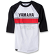 White/Black Yamaha Vintage Baseball T-Shirt