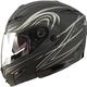 Flat Black/Silver GM54 Modular Helmet