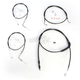 Stainless Braided Handlebar Cable and Brake Line Kit for Use w/15 in. - 17 in. Ape Hangers - LA-8220KT-16B
