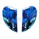 Blue Sideplates for Airmada Thriller Helmet - 0133-0781