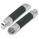 Chrome Twin Slash Billet Male-Mount Footpegs - 1620-0753