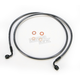 Black Pearl Designer Series 90 Degree Top Angle Custom Single-Disc Front Brake Line - 46254SW