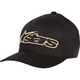 Black/Gold Blaze Flex-Fit Hat