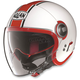 White/Red N21 Visor Duetto Helmet