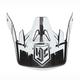 White/Black MC-10F Visor for CS-MX Helmets - 0970-6020-10
