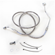 Front Standard Length ABS Stainless Steel Brake Line Kit - 1741-3847