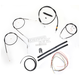 Black Vinyl Handlebar Cable and Brake Line Kit for Use w/12 in. - 14 in. Ape Hangers (w/o ABS) - LA-8300KT2-13B