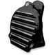 Gloss Black Finned Billet Aluminum Horn - C1140-B