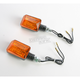 DOT Universal Mini Stalk Turn Signal - Carbon w/Amber Lens - 25-7501