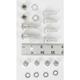 Cadmium Rear Fender Mounting Hardware Kit - 2665-18