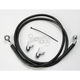 Front Extended Length Black Vinyl Braided Stainless Steel Brake Line Kit +4 in. - 1741-2534