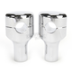 Chrome Hefty 2 in. Handlebar Risers for Paughco and DNA Springer Kit - LA-7410-01