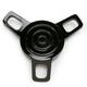 Black Vented Tri-Bar Gas Cap - 0703-0546