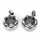 Chrome Bullet Ringz w/Red LED Turn Signals - BTRC-RR-1157-S