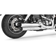Chrome Racing Slip-On Mufflers with Black Tips - HD00317