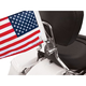 Sissy Bar Flag Mount for 5/8 in. Round Sissy Bars w/6 in. x 9 in. Highway Flag - RFM-RDSB5