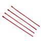 Red 8in. Stainless Steel Tie Wraps - CPP/9074