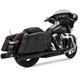 Matte Black Eliminator 400 Slip-On Mufflers - 46703