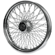 16 in. x 3.50 in. Chrome 80-Spoke Rear Wheel Assembly w/Twisted Spokes - 16-125