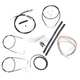 Black Vinyl Handlebar Cable and Brake Line Kit for Use w/18 in. - 20 in. Ape Hangers (w/o ABS) - LA-8130KT2-19B