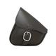 Black Leather Swingarm Bag w/Chrome Buckle - 59823-00