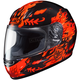 Youth Black/Red/Orange CL-Y Flame Face MC-1 Helmet