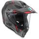Black/Silver/Red AX-8 Dual Evo GT Helmet