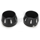 Black Powder-Coated End Caps w/Contrasting Machined Flutes - BELMR-2